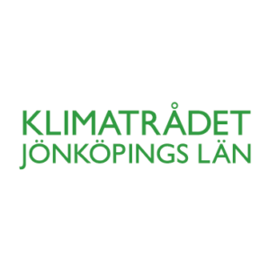 Logotype för Klimatrådet - vit
